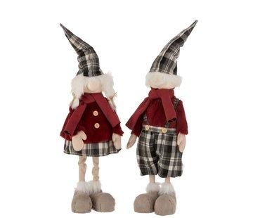 J-Line Decoration Christmas dolls Winter Clothes Mix Colors - Large