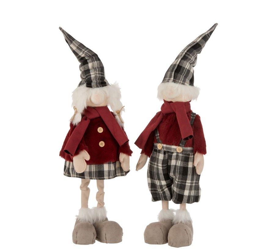 Decoration Christmas dolls Winter Clothes Mix Colors - Large