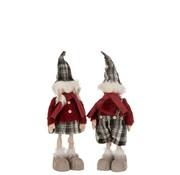 J-Line Decoration Christmas dolls Winter Clothes Mix Colors - Small