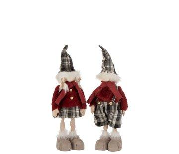 J -Line Decoration Christmas dolls Winter Clothes Mix Colors - Small
