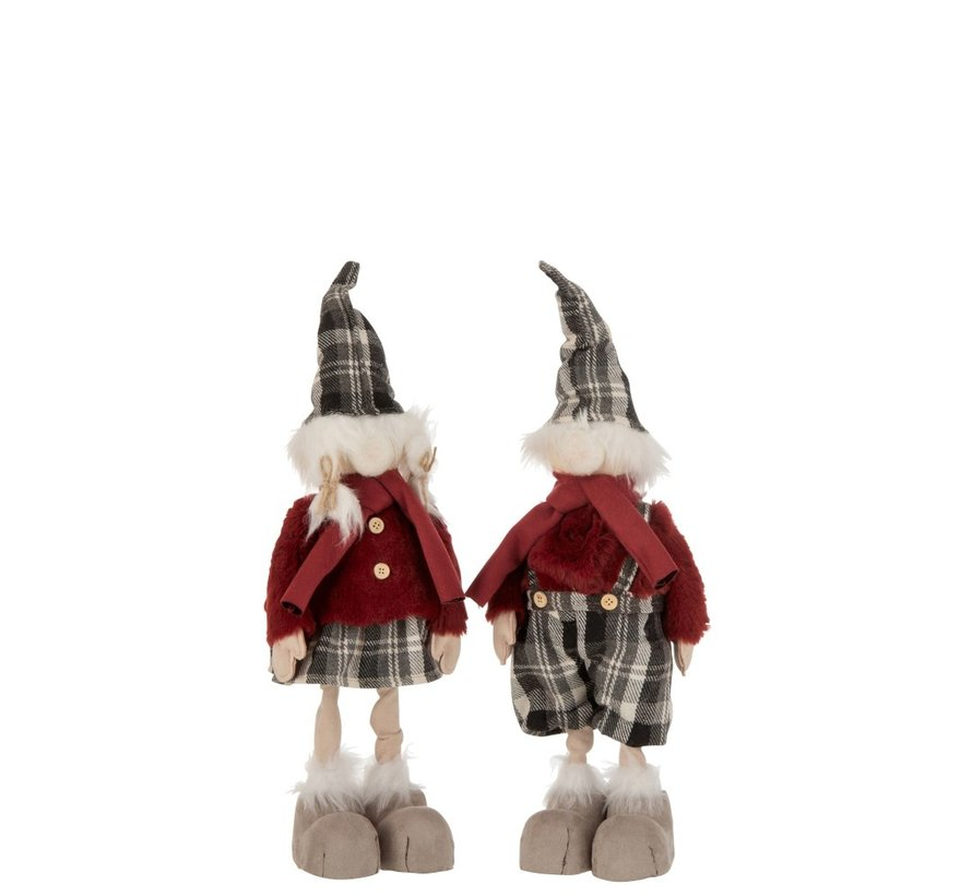Decoration Christmas dolls Winter Clothes Mix Colors - Small