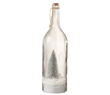 J -Line Decoration Bottle Christmas tree LED lighting Silver - White