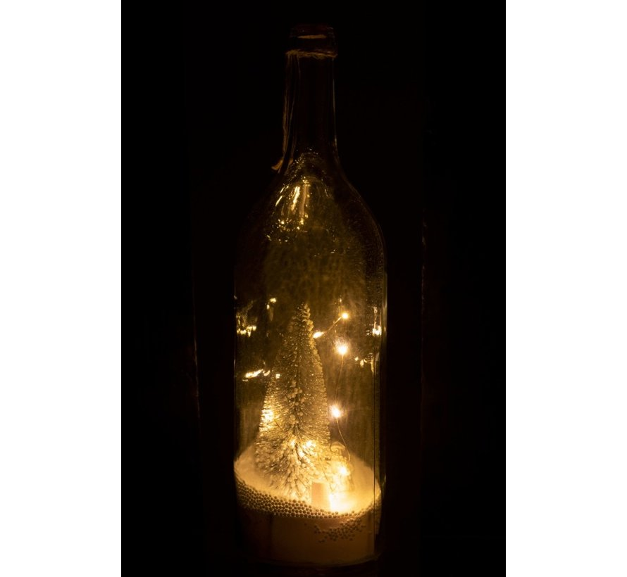 Decoration Bottle Christmas tree LED lighting Silver - White