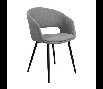 Kick Dining room chair Open Backrest Metal Frame - Gray