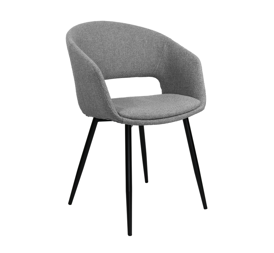 Dining room chair Open Backrest Metal Frame - Gray