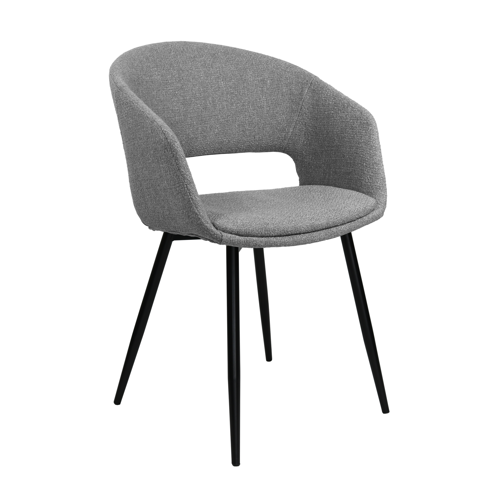 Picture of: Dining Room Chair Open Backrest Metal Frame Gray Sl Homedecoration Com