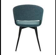Kick Dining room chair Open Backrest Metal Frame - Blue