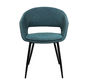 Dining room chair Open Backrest Metal Frame - Blue