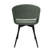 Kick Dining room chair Open Backrest Metal Frame - Green