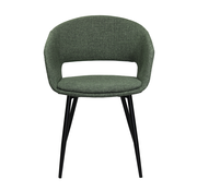 Kick Dining room chair Open Backrest Metal Frame - Green