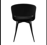 Kick Dining room chair Open Backrest Metal Frame - Black
