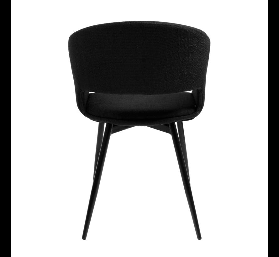 Dining room chair Open Backrest Metal Frame - Black
