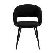Kick Dining room chair Open Backrest Metal Frame - Black