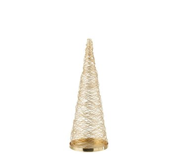 J-Line Decoration Cone Woven Steel Gold - Small