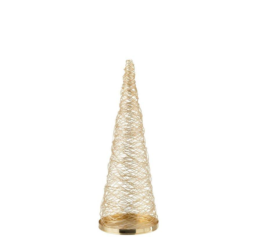 Decoration Cone Woven Steel Gold - Small