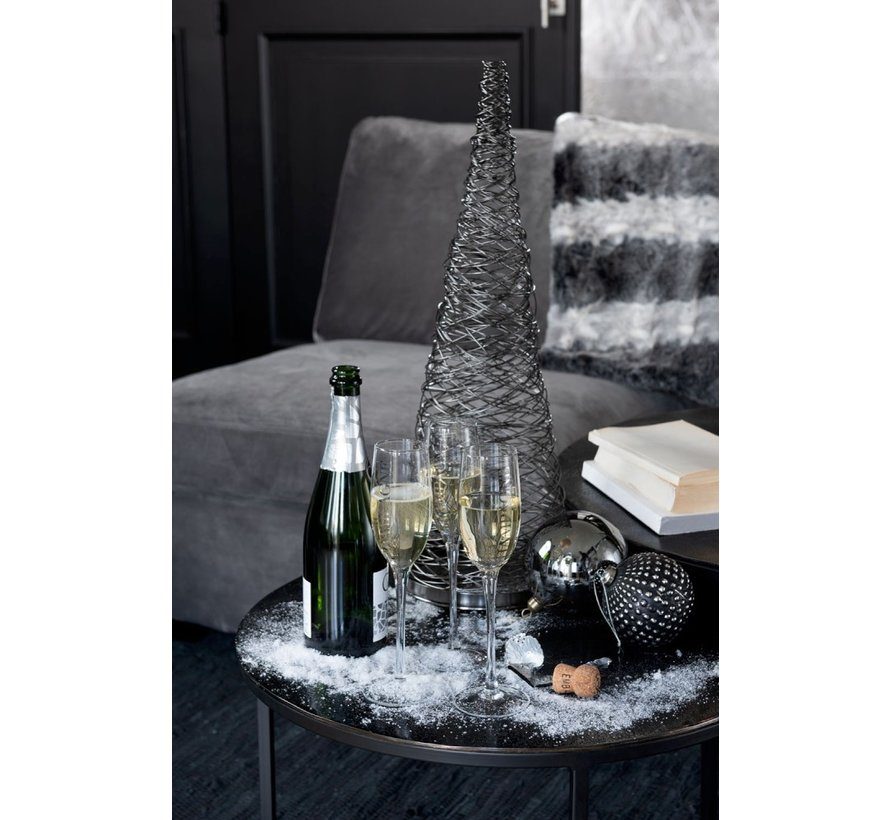Decoration Cone Woven Steel Black - Large