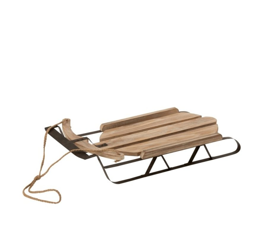 Decoration Winter Sled Wood Natural - Brown