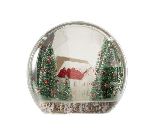 J -Line Decoratie Bol Winter Led Verlichting Mix Kleuren - Large