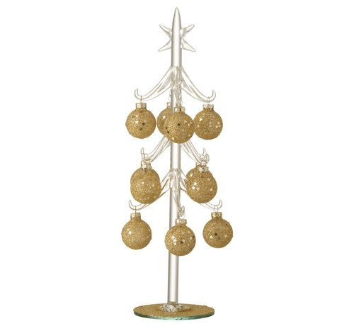 J -Line Decoration Tree Glass Balls Gold - Large