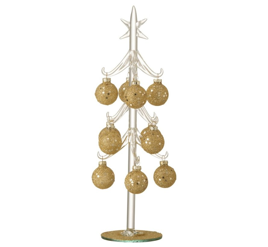 Decoration Tree Glass Balls Gold - Large