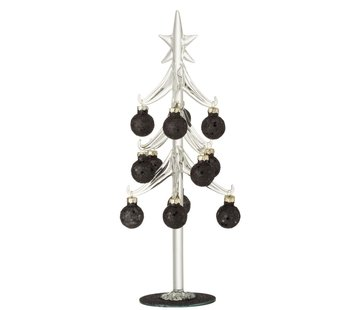J-Line Decoration Tree Glass Christmas Balls Black - Large