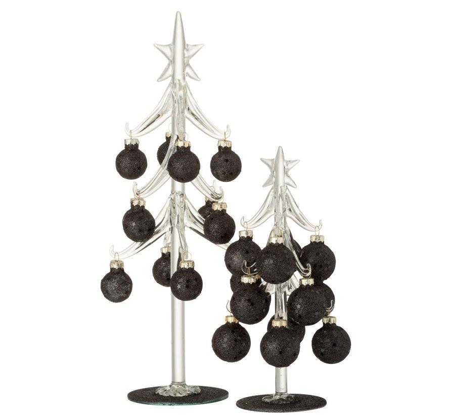 Decoration Tree Glass Christmas Balls Black - Large
