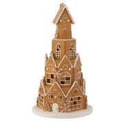 J -Line Decoration Gingerbread House Led Lighting - Brown