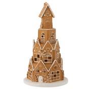 J-Line  Decoration Gingerbread House Led Lighting - Brown