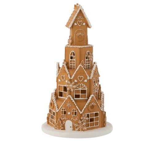 J -Line Decoration Gingerbread House Led Lighting - Brown