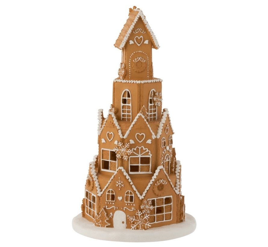 Decoration Gingerbread House Led Lighting - Brown