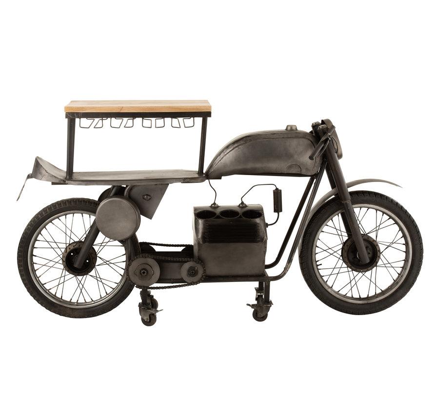 Bar Motorfiets Mancave Mango Hout Metaal - Donkergrijs