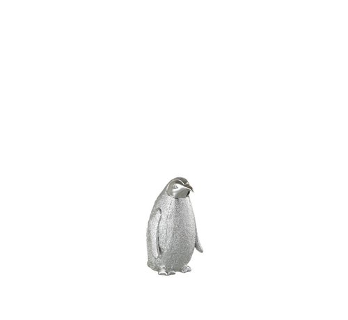 J -Line Decoration Christmas Penguin Poly Silver - Small