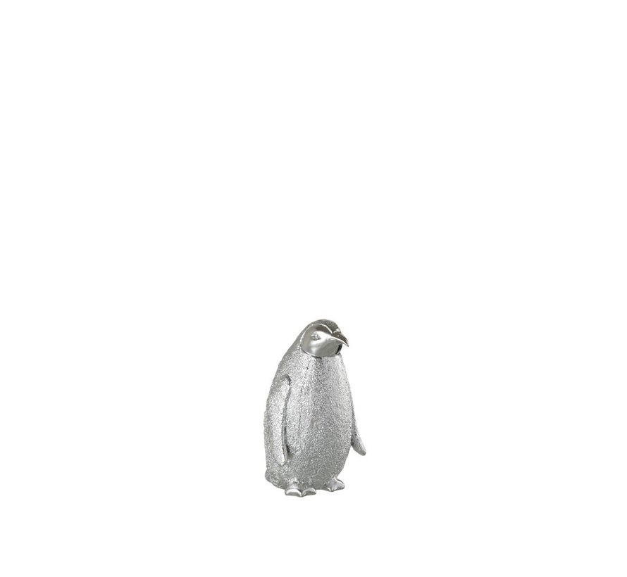 Decoration Christmas Penguin Poly Silver - Small