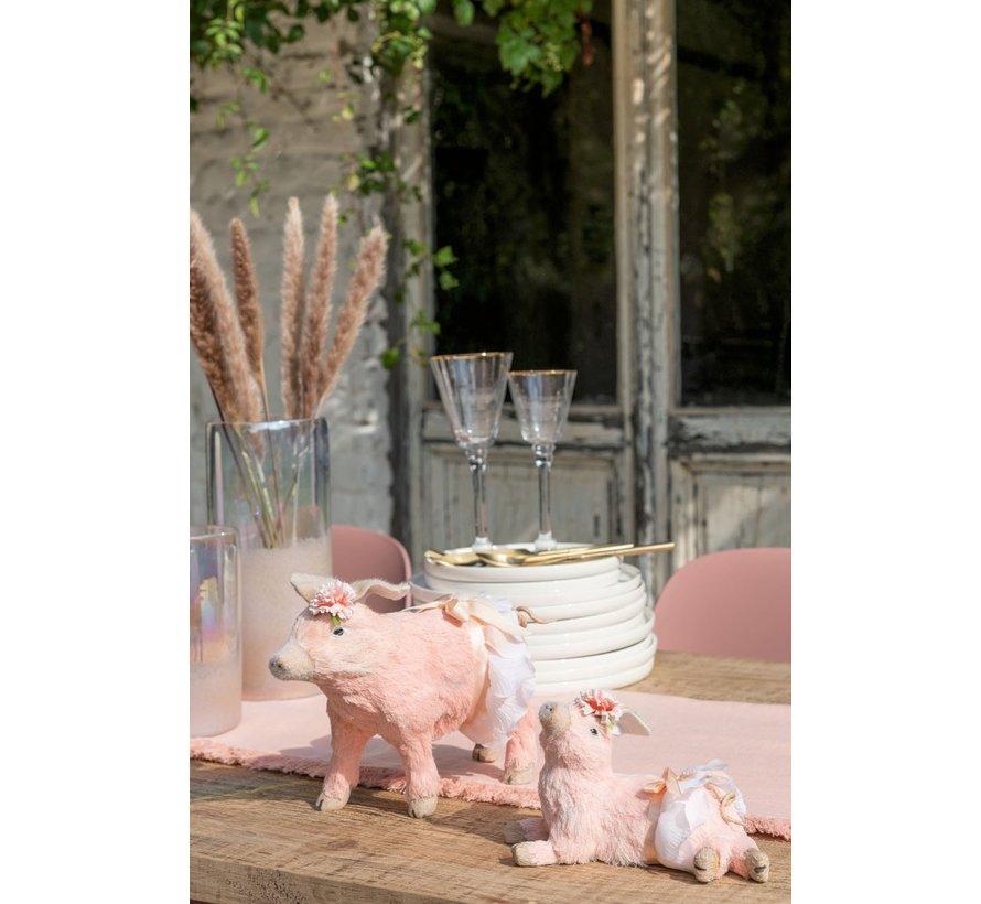 Decoratie Varkens Zittend Staand Liggend Mix - Roze
