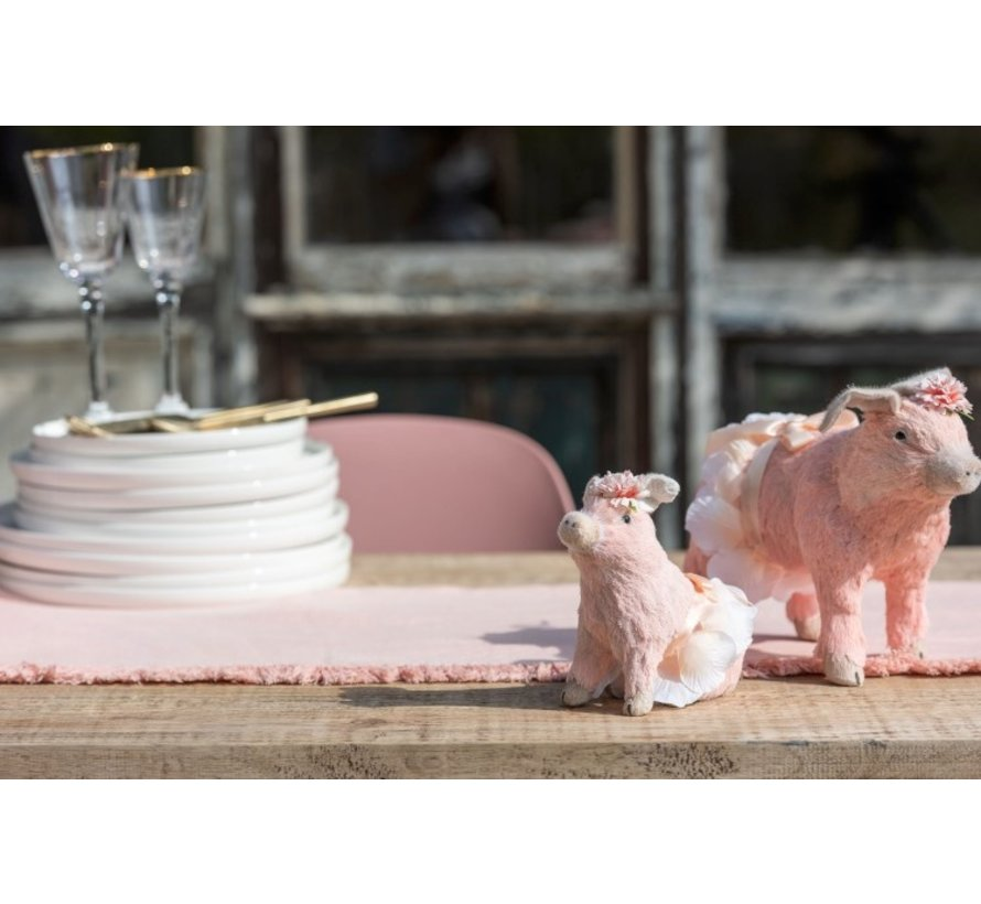 Decoratie Varkens Zittend Staand Mix Roze - Medium
