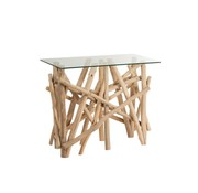 J-Line Console Table Rural Glass Branches - Brown