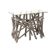 J -Line Console Table Rural Glass Branches - Gray Wash