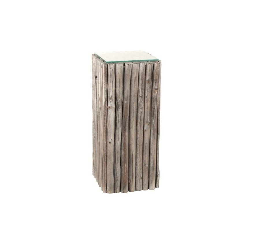 Decoratie Zuil Hout Takken Glas - Grey Wash