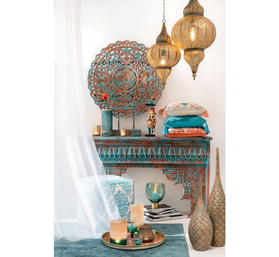 Console table Oriental Mango Wood Azure - Orange