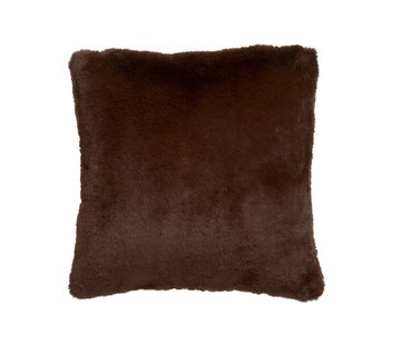 J-Line Cushion Square Cutie Extra Soft - Chocolate Brown