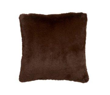 J-Line  Kussen Vierkant Cutie Extra Zacht - Chocolade Bruin