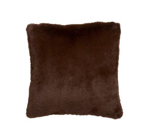 J -Line Kussen Vierkant Cutie Extra Zacht - Chocolade Bruin