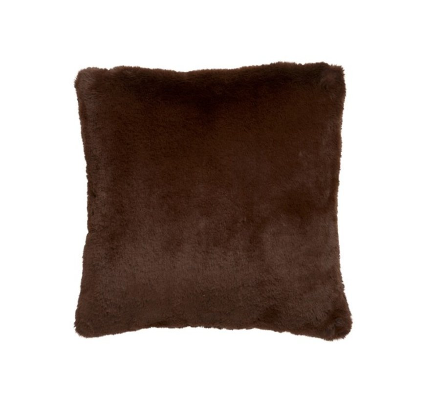 Cushion Square Cutie Extra Soft - Chocolate Brown