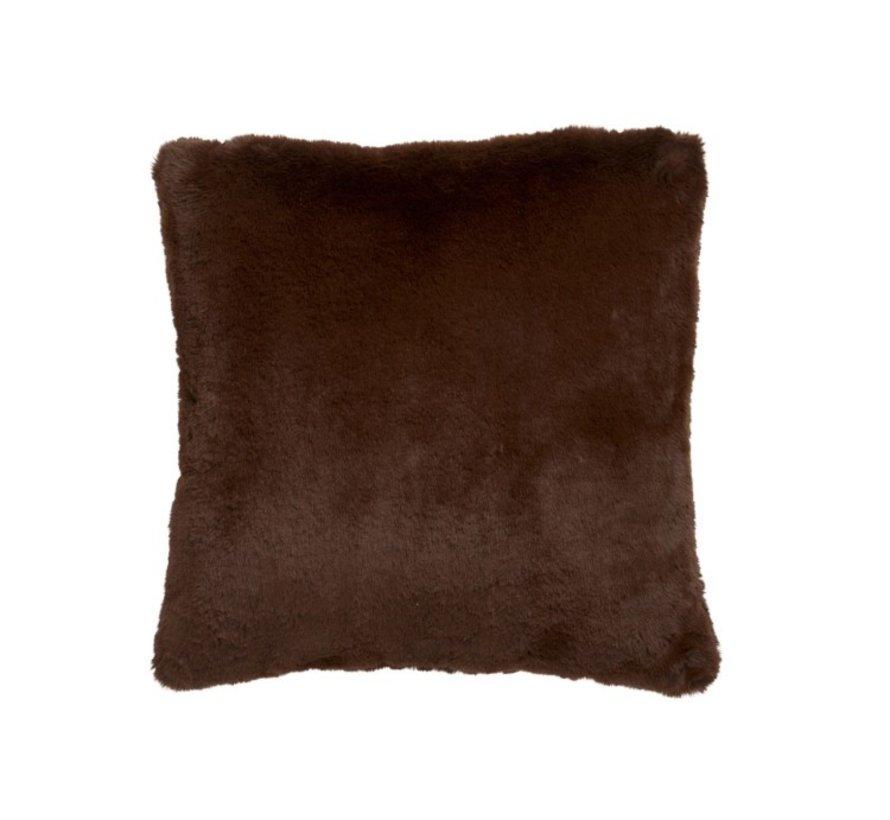 Kussen Vierkant Cutie Extra Zacht - Chocolade Bruin