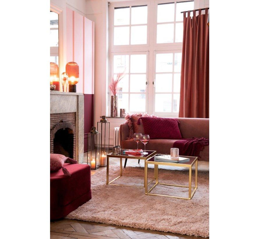 Cushion Rectangle Soft Cotton Tassels - Dark Red