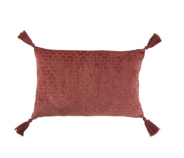 J -Line Cushion Rectangle Soft Cotton Tassels - Terracotta