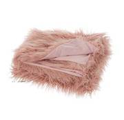 J -Line Plaid Extra Soft Long Fake Fur - Light pink