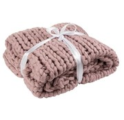 J -Line Plaid Extra Soft Knitted Textile - Pink