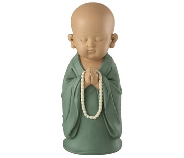 J -Line Decoration Monk Standing Pearls Pastel Green - Large
