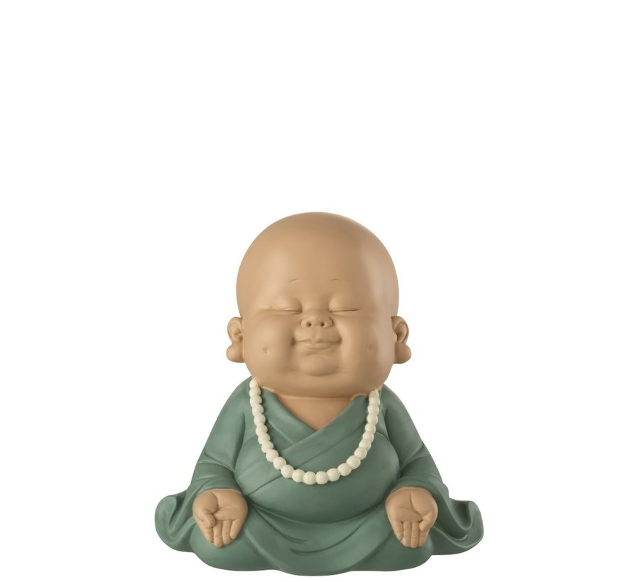 Decoration Monk Sitting Zen Pastel Green - Small